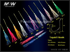 M&W Squid with hooks, 1 Pack(5 Pieces)