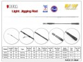 M&W SOFIA Light Jigging rod(black)