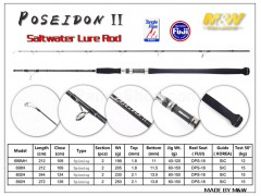 M&W POSEIDON II Saltwater Lure Rod(new)